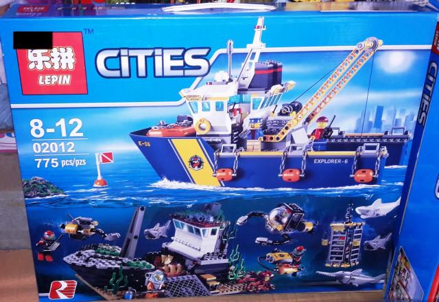 Конструктор Lepin 02012 City Корабль исследователей морских глубин 774 дет