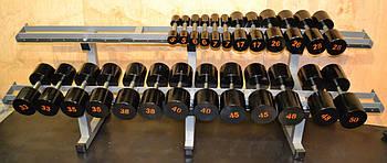 Гантельный ряд 10-60 кг - стальные неразборные гантели