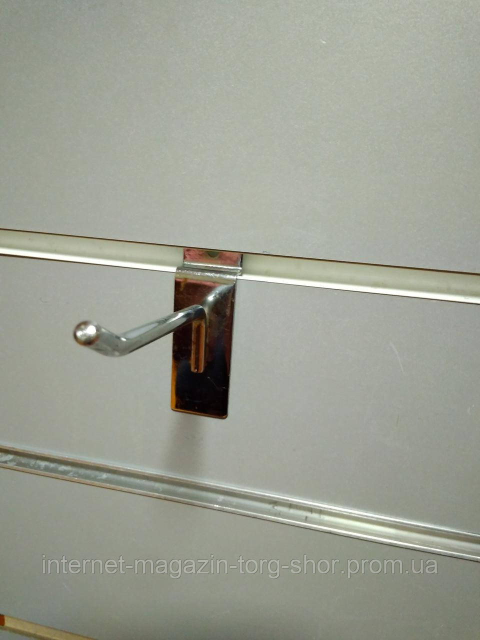 Крючок в эконом-панель 10см ХРОМ Ø 6мм