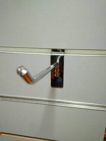 Крючок в эконом-панель 10см ХРОМ Ø 6мм, фото 2