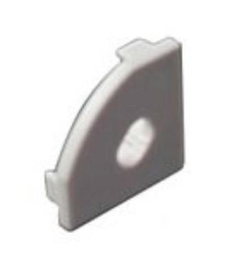 Торцевая заглушка угловая SL18.5*18.5мм с отверстием (1шт) Код.58394