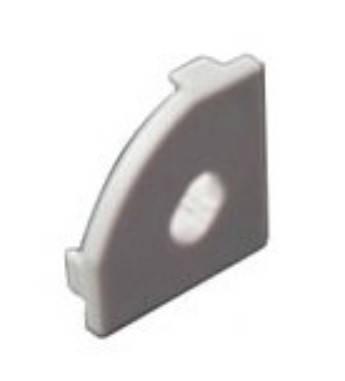 Торцевая заглушка угловая SL18.5*18.5мм с отверстием (1шт) Код.58394, фото 2