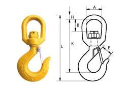 Крюк с защелкой типа G80