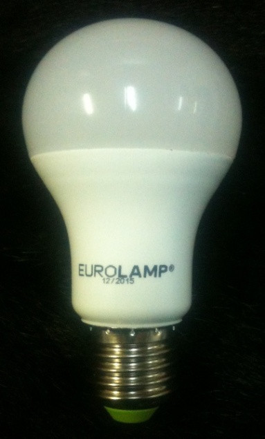 Светодиодная лампа Eurolamp LED-A60-10274(D) LED A60 10W E27 4000K Kод.58586