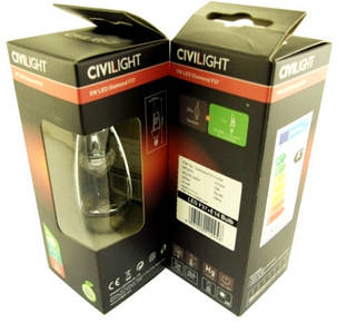 Светодиодная лампа CIVILIGHT E14 5W свеча F37 2700К Код.58579, фото 2
