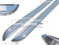 Подножки из нержавейки  Mitsubishi Pajero Sport (1997-2008), Ø 42 \ 51  \ 60 мм