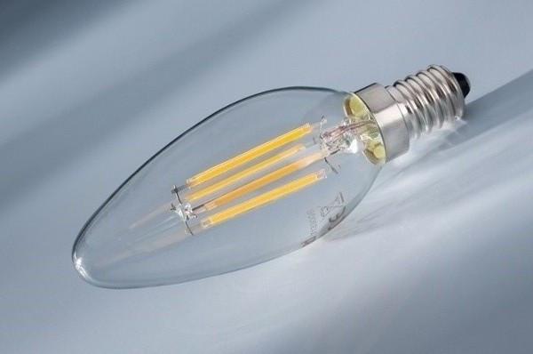 Светодиодная лампа Lemanso Filament LED LM392 4W С35 Е14 4500K (свеча, прозрачная) Код.58655