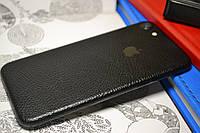 """Виниловая наклейка """"Чёрная кожа"""" Iphone 7 (0,2 mm)"""
