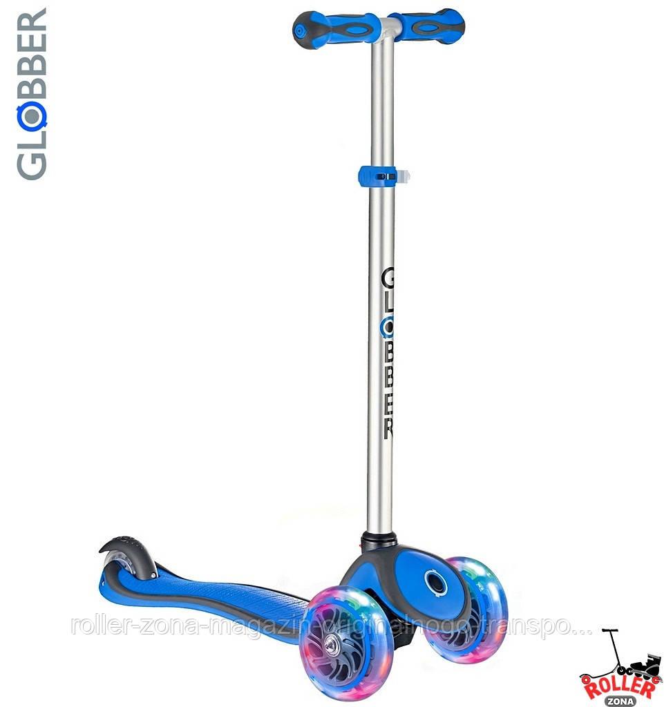 Самокат GLOBBER PRIMO PLUS со светящимися колесами синий, фото 1