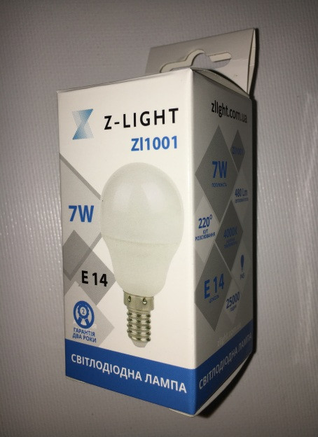 Светодиодная лампа Z- LIGHT ZL1001 7W G45 E14 4000K Код.58786