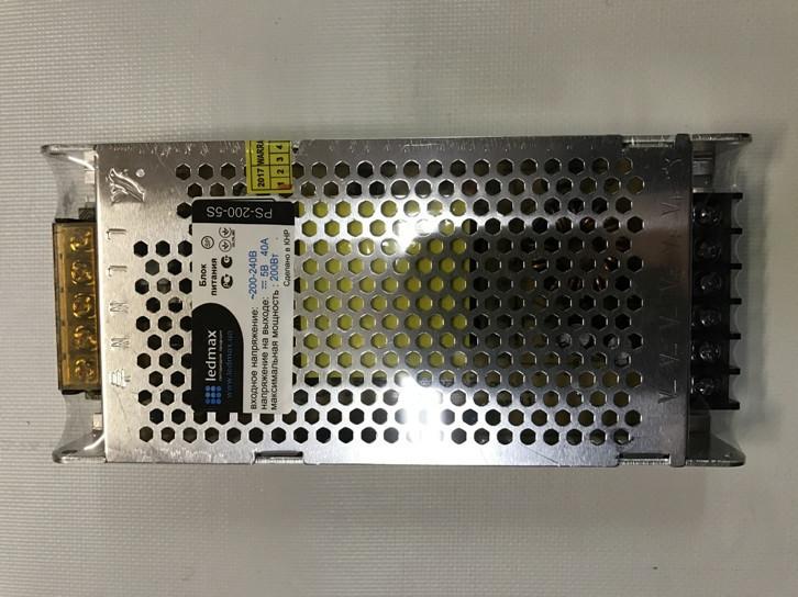 Блок питания Ledmax 5В 200Вт 40А IP20 перфорированный Код.58837