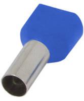 Изолированный наконечник e.terminal.stand.te.2.0.75.blue (TE7510 blue) 2x0,75  кв.мм, голубой