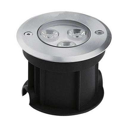 Светодиодный тротуарный светильник с линзой SP4111 3W 2700K IP67 Код.58887, фото 2