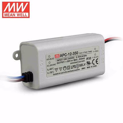 Драйвер для светодиодов Mean Well APC-12-350 12W; 350mA IP30 Код.59052, фото 2