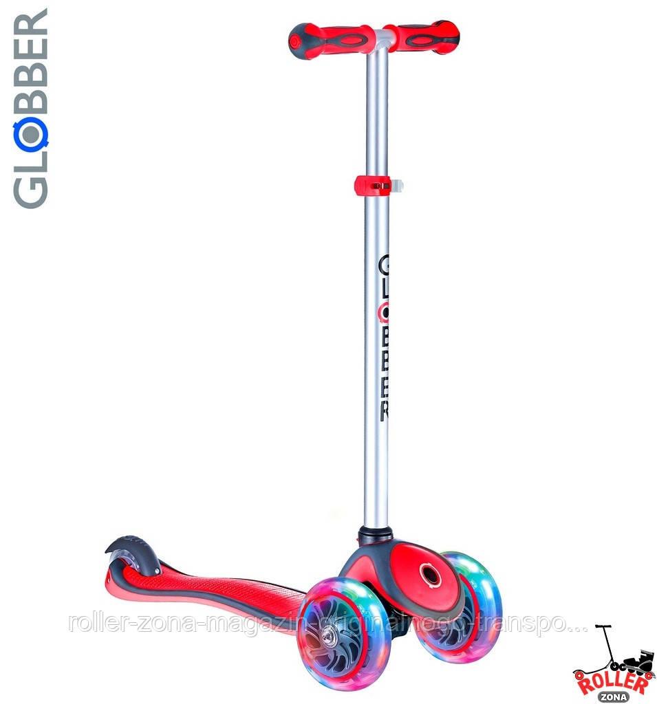 Самокат GLOBBER PRIMO PLUS со светящимися колесами Красный