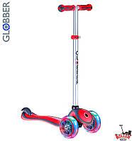 Самокат GLOBBER PRIMO PLUS со светящимися колесами Красный, фото 1