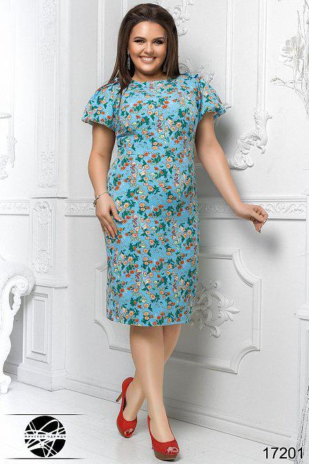 Милое женское платье с цветочным принтом, Мода плюс