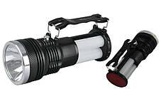 Светодиодный аккумуляторный фонарь SL-2881 3W черный Код.59095, фото 3