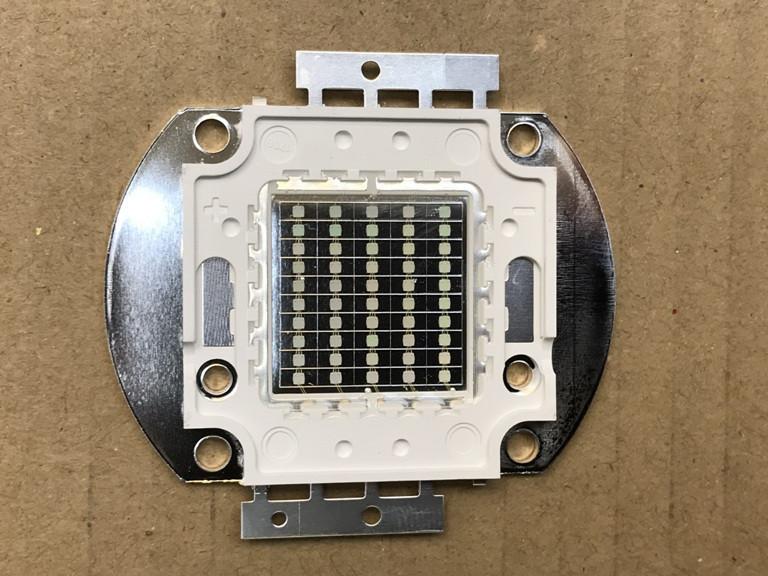 Светодиод матричный СОВ синий для прожектора 50W (45Х45 mil) Код.59124
