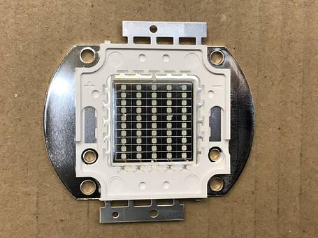 Светодиод матричный СОВ синий для прожектора 50W (45Х45 mil) Код.59124, фото 2