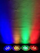 Светодиодный тротуарный линзованный светильник LM988 7W красный, синий, зеленый, желтый Код.59139, фото 3