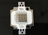 Светодиод матричный СОВ красный для прожектора 10W 300mA (45Х45 mil) Код.59174