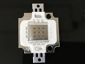 Светодиод матричный СОВ красный для прожектора 10W 300mA (45Х45 mil) Код.59174, фото 2