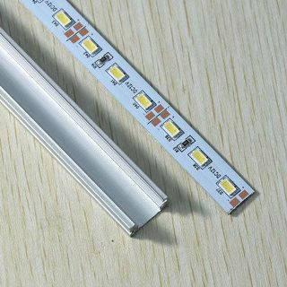 Светодиодная лента Premium SMD 5630/72 12V 3500K IP20 1м на алюминиевой подложке в профиле Код.56456, фото 2