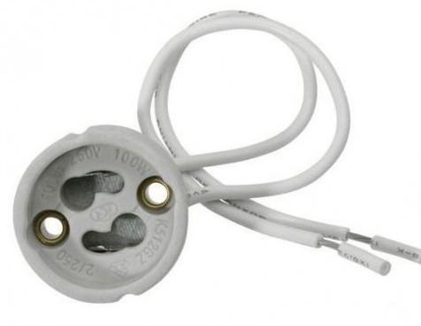 Патрон GU-10 керамический 230V/50Hz 2A HL551 Код.56802