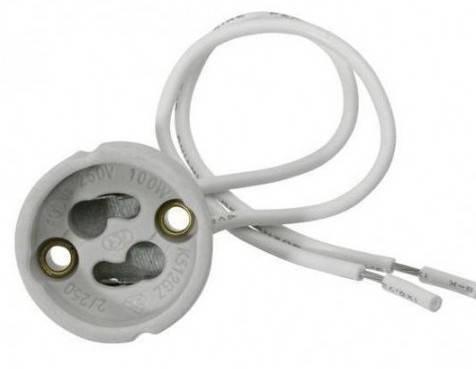 Патрон GU-10 керамический 230V/50Hz 2A HL551 Код.56802, фото 2
