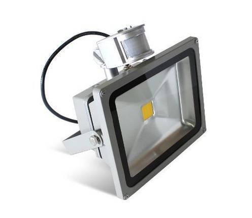 Светодиодный прожектор 20 Вт IP44 6500K с датчиком движения Код.57131, фото 2