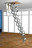 Чердачная лестница Roto Mini металлическая ножничная 120 х 70 см