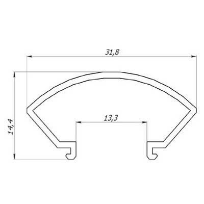 Рассеиватель РСК круглый матовый (за 1м) Код.57812, фото 2