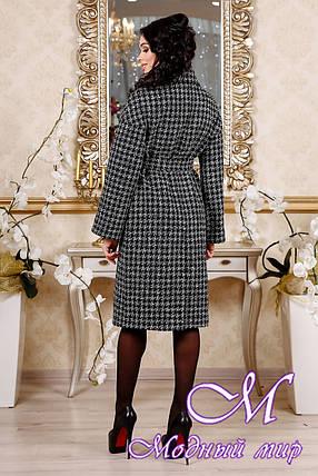 Черное демисезонное женское пальто (р. 44-54) арт. 1102 Тон 2, фото 2