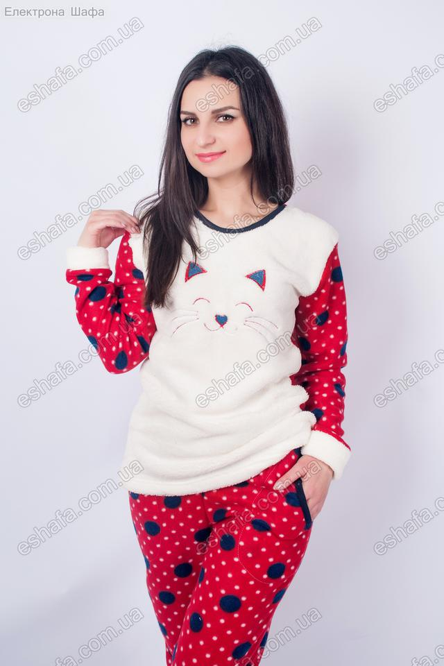 флисовый домашний костю пижама