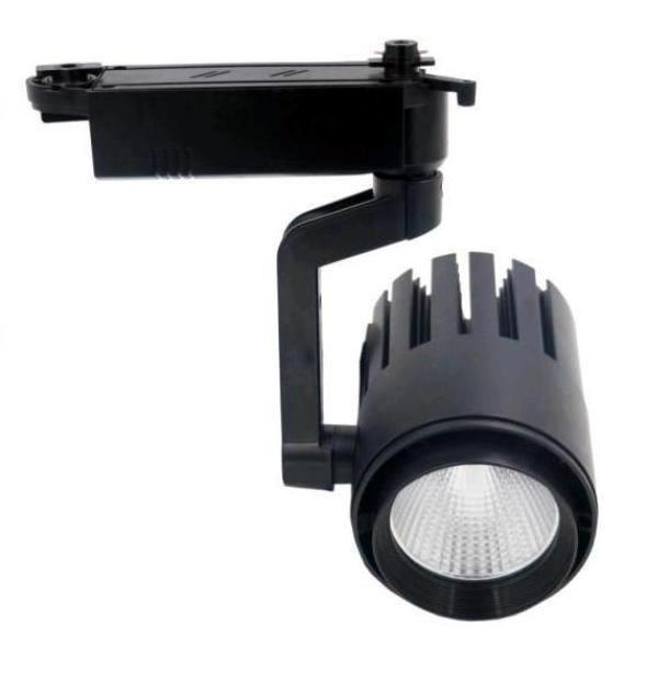 Светодиодный трековый спот светильник 30W 6000К черный Код.58563