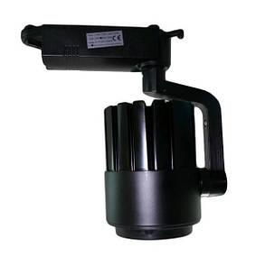 Светодиодный трековый спот светильник 30W 6000К черный Код.58563, фото 2