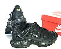 """Кроссовки Nike Air Max Tn+ plus """"Triple black"""". Топ качество! Живое фото (Реплика ААА+)"""