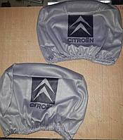 Чехлы на подголовник Citroen 2 шт, фото 1