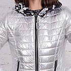Весенняя серебренная куртка от производителя для женщин - весна 2018 - (кт-226), фото 3