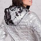 Весенняя серебренная куртка от производителя для женщин - весна 2018 - (кт-226), фото 6