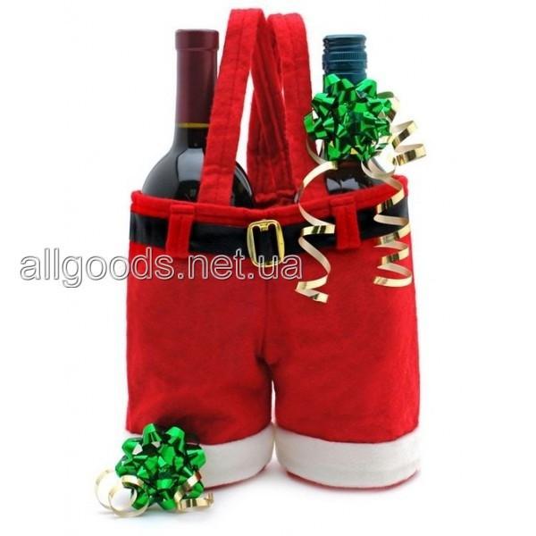 Сумка Штаны Санта Клауса, новогодняя упаковка