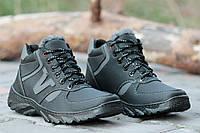 Ботинки спортивные зимние мужские черные прошиты Львов (Код: М153). Только 41р!