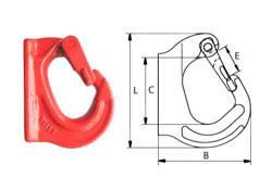 Крюк с приварочной площадкой типа G80