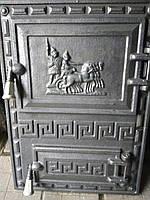 Дверцы печные, для барбекю Грек квадрат. Дверцы для кухни, фото 1