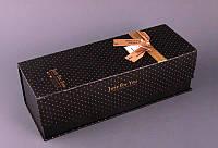 Коробка подарочная для бутылки черная.34,5х12,5х11 см.