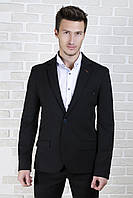 Пиджак чёрный трикотажный, фото 1