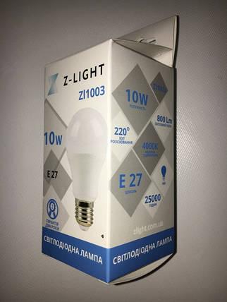 Светодиодная лампа Z- LIGHT ZL1003 10W А60 E27 4000K Код.58781, фото 2