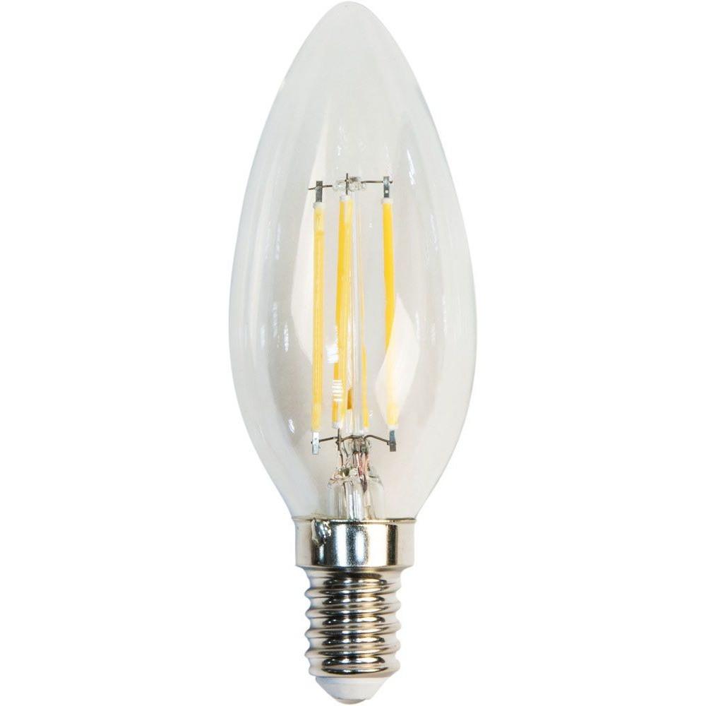 Светодиодная лампа Filament  Z- LIGHT ZL1012 5W С37 E14 4000K (прозрачная свеча) Код.58811