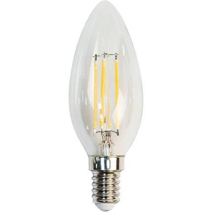 Светодиодная лампа Filament  Z- LIGHT ZL1012 5W С37 E14 4000K (прозрачная свеча) Код.58811, фото 2